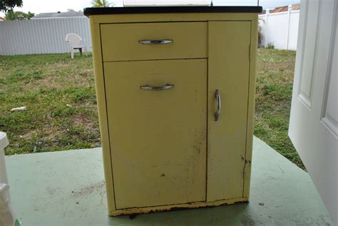 Antique Metal Kitchen Cabinet Vintage Cabinet Rev