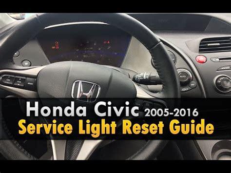 reset honda civic maintenance light honda civic service light reset 2006 2016