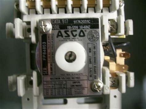 asco lighting contactor 917 asco 91762031c lighting contactor 6 pole