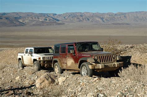 hummer h3 vs jeep hummer h3 vs jeep wrangler unlimited rubicon