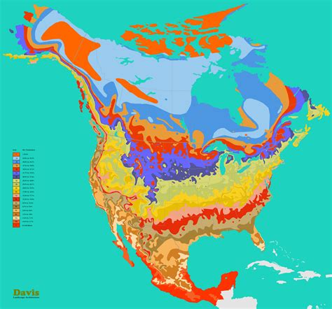 growing zone map usa america hardiness map landscape architect s pages