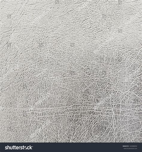 Silver Leather by Silver Leather Texture Background Stock Photo