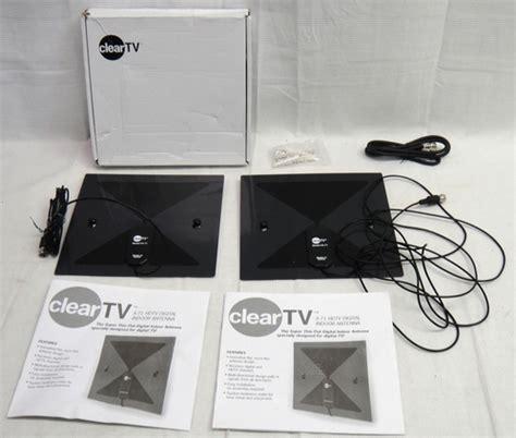 X 71 Hdtv Digital Indoor Antenna 2 pair of clear tv x 71 hdtv digital indoor antenna ebay