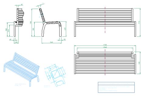 2d bench bloques cad autocad arquitectura download 2d 3d dwg 3ds library