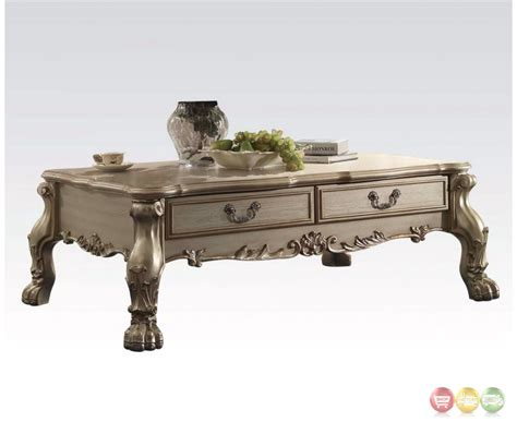 Ornate Coffee Table Dresden Traditional 2 Drawer Ornate Coffee Table In Antique Gold Patina