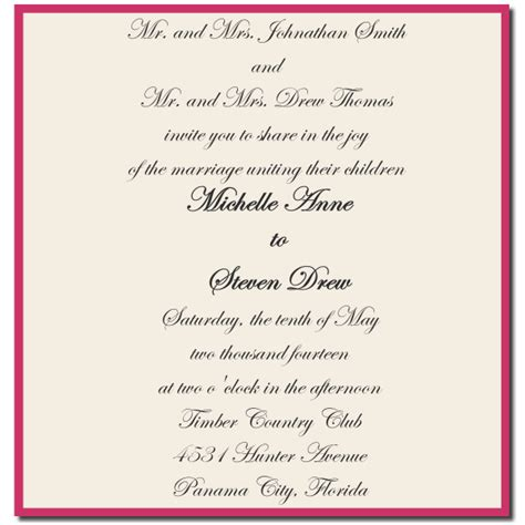 Wedding Invitations With Both Parents Names by How To Choose The Best Wedding Invitations Wording