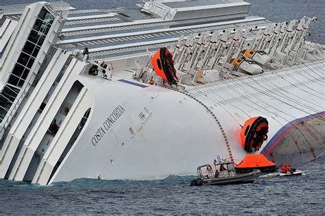 which side is portside on a boat costa concordia shipwreck pulled upright off giglio italy
