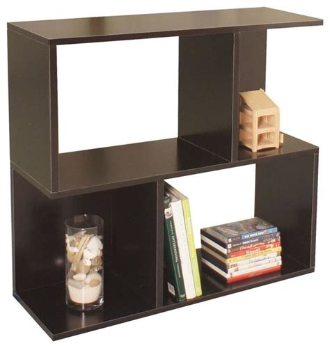 modular storage bookcase in black contemporary