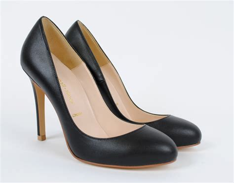 classic high heel pumps small size classic leather heel loulou classic pumps by