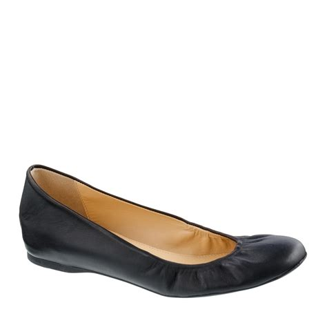 shoes flats black j crew cece ballet flats in black lyst