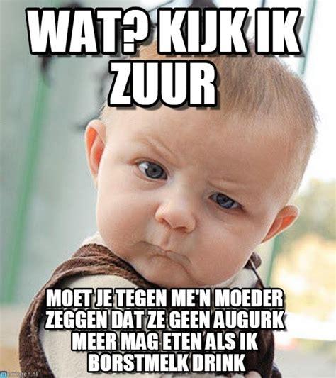 Grappige Memes - wat kijk ik zuur sceptical baby meme op memegen