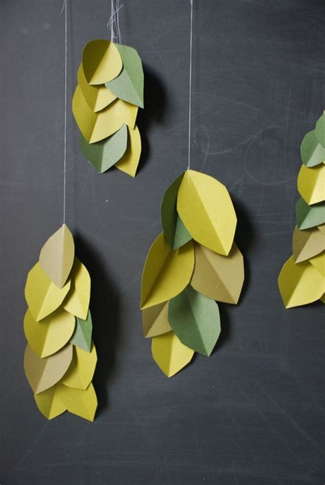 Paper Leaf Craft - best 20 paper leaves ideas on