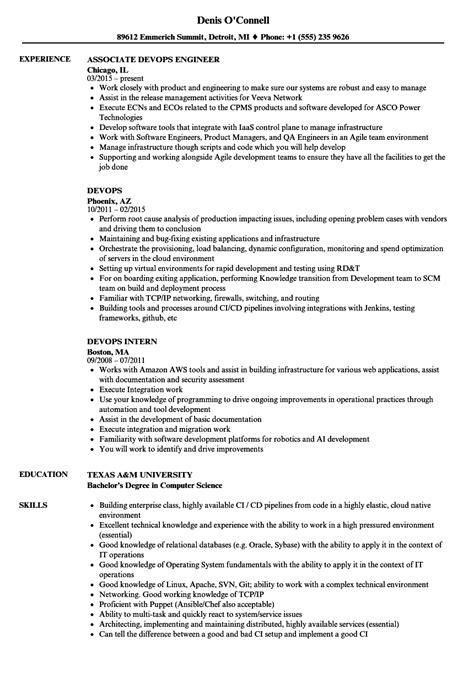 Devops Resume Sles Velvet Jobs Devops Resume Template