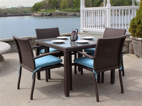 Outdoor Furniture Dining Sets by Wicker Outdoor Dining Sets For Luxury House Garden