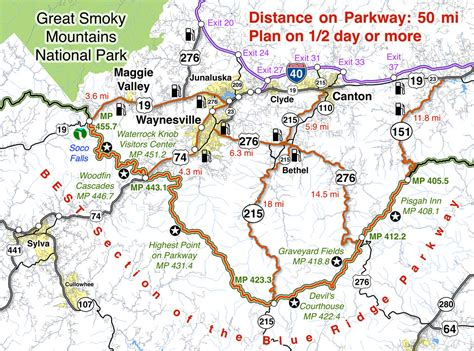 map of blue ridge parkway best blue ridge parkway overlooks by motorcycle smoky