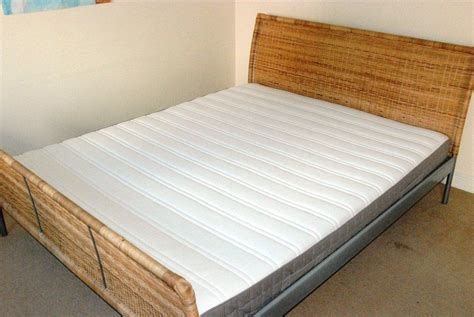 Ikea King Bed Frame And Ikea Hamarvik King Mattress Wicker Wicker Bed Frames