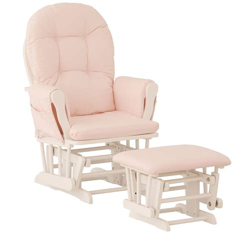 nursery glider chair baby rocker furniture ottoman set - Pink Nursery Chair