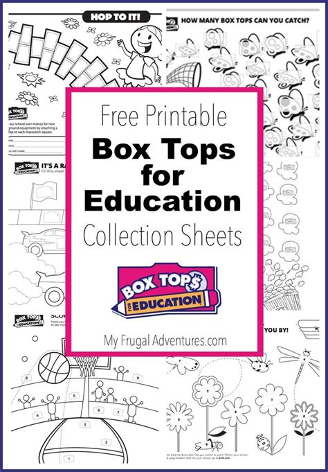 box tops for education sheet 117 best images about box top collection sheet ideas on