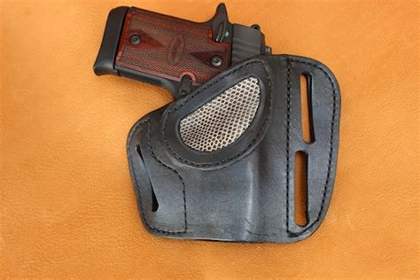 Handmade Gun Holsters - leather pancake style gun holster holster12 rmb custom
