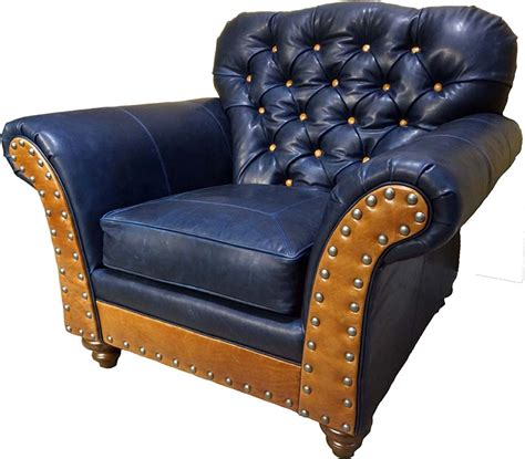 Navy Tufted Chair by Navy Leather Tufted Club Chair Color Furniture Free