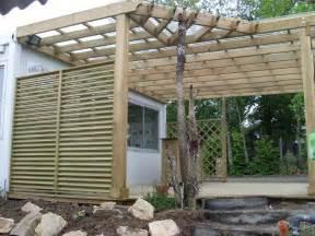 terrassen pergola pergola bois terrasse bois berriau menuiserie