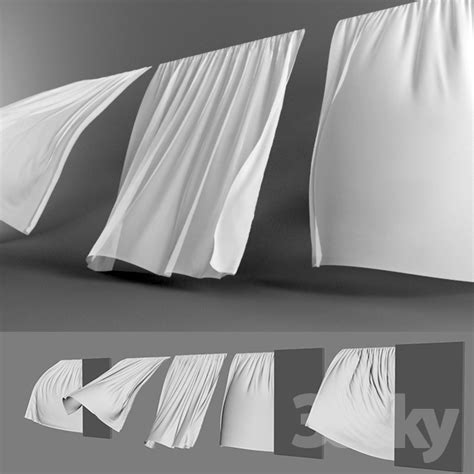 wind curtains 3d models curtain curtains in the wind