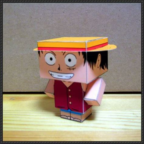 one monkey d luffy cube craft free paper