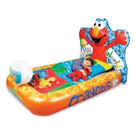 blow up toddler bed elmo elmo s world inflatable ready bed kids toddler with