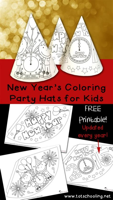 new year s colors free new years coloring hats free homeschool deals