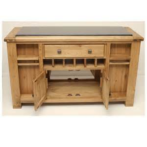 oak kitchen island with black granite top danube dan051 ebay