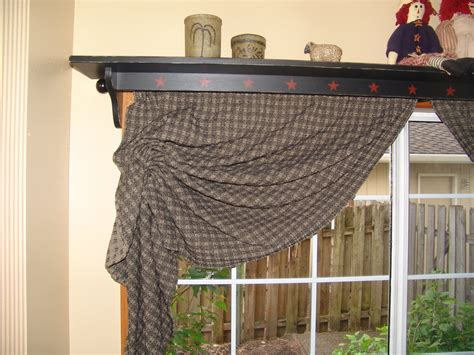 window shelf with curtain rod 1000 images about primitive window treatments on pinterest