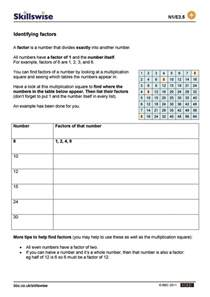factors and multiples worksheets for grade 4 factors and