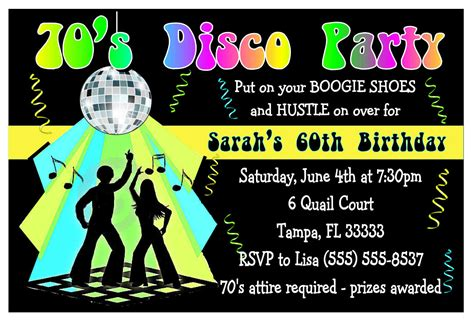 70s party invitations 70s disco party invitations newhairstylesformen2014 com