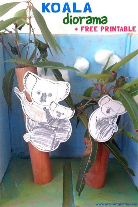 printable diorama koala diorama colour paint craft printable by the
