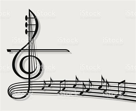 dark color musical notes vector musical notes on staff with large music icon stock vector
