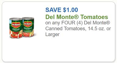 del monte coupon $1 off any four del monte canned