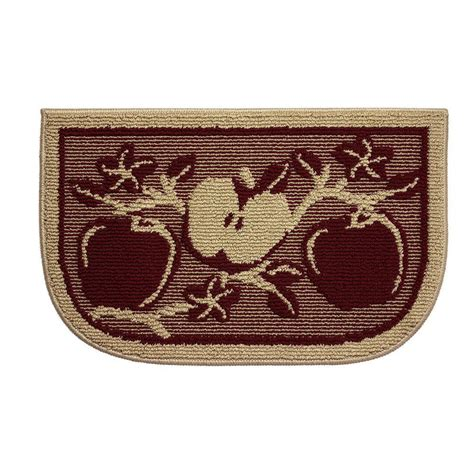 apple kitchen rug structures apple orchard 18 in x 30 in kitchen rug ymk003491 the home depot