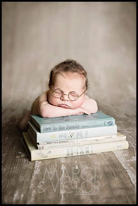 Newborn Pose Photography Idea Books Glasses Boy Marci | newborn pose photography idea books glasses boy marci