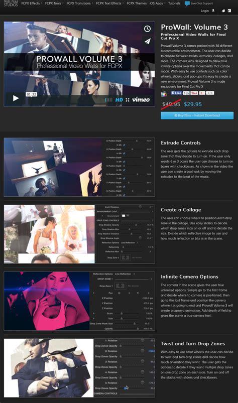 final cut pro x plugins pixel film studios released a new video wall plugin
