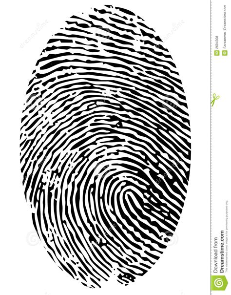 single fingerprint royalty free stock photos image 2694308
