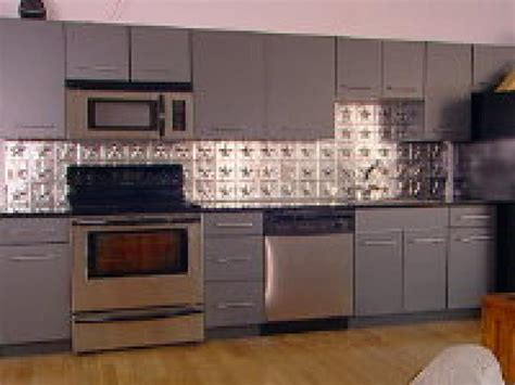 metal backsplashes for kitchens how to create a tin tile backsplash hgtv