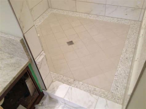 Ditra Shower Pan by Kerdi Shower Pan Large Format Tiles Tiling