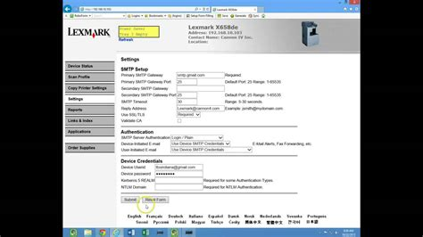email xl lexmark scan to email and address book youtube