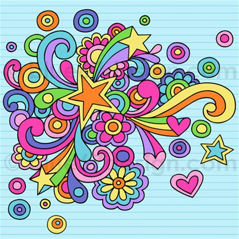 doodle name darlene notebook doodle abstract vector