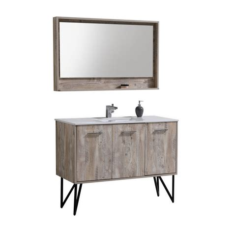 quartz bathroom vanity bosco 48 quot modern bathroom vanity w quartz countertop and