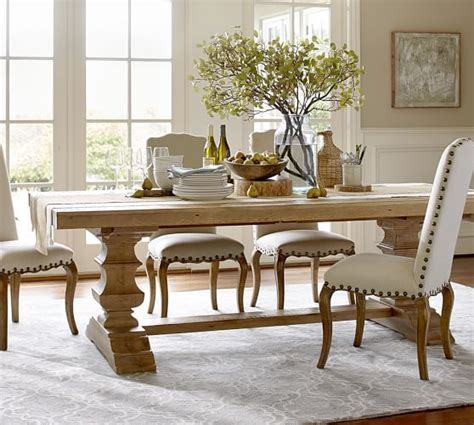 pottery barn dining rooms banks reclaimed wood extending dining table pottery barn diningtable diningchairs dining