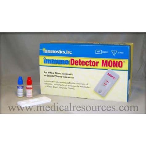 mono test immunostics immuno detector mono test