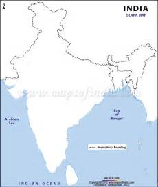 India Physical Map Outline In A4 Size by India Map Junglekey In Image 100