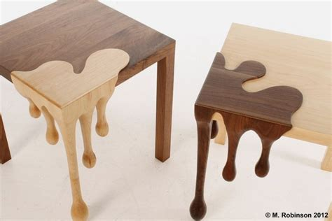 creative table unique wooden table with droplets sculpture fusion table