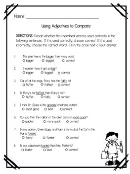 using adjectives to compare suffix er and est affix